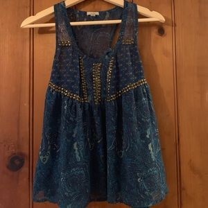 Urban Outfitters Teal Halter